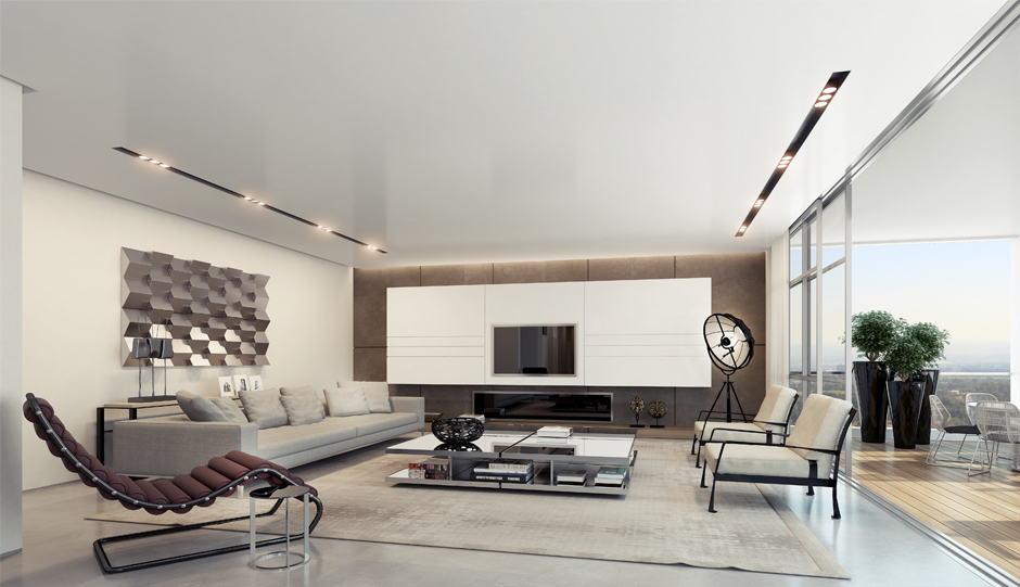 Apartment interior design inspiration - Modern living room decoration ...