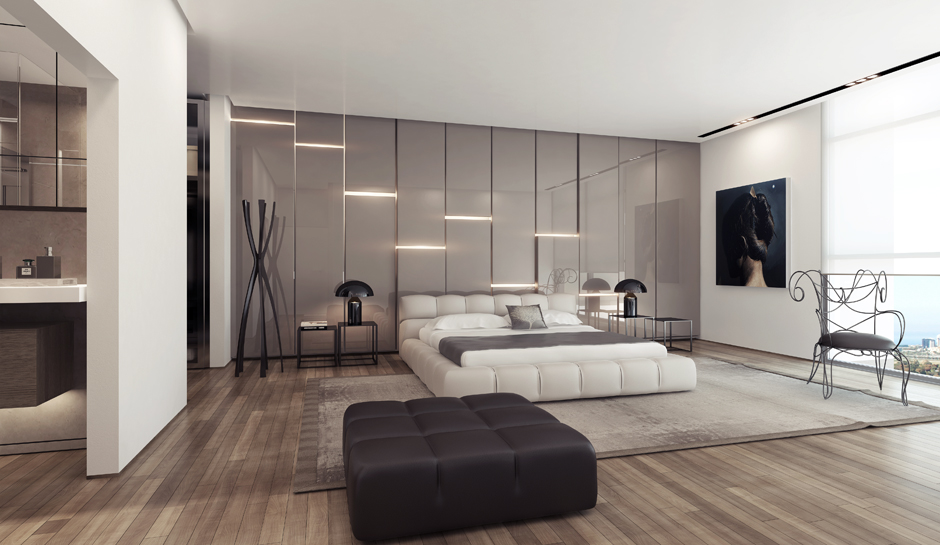 3 white platform bed gloss feature wall interior design ideas like architecture interior design follow us aloadofball
