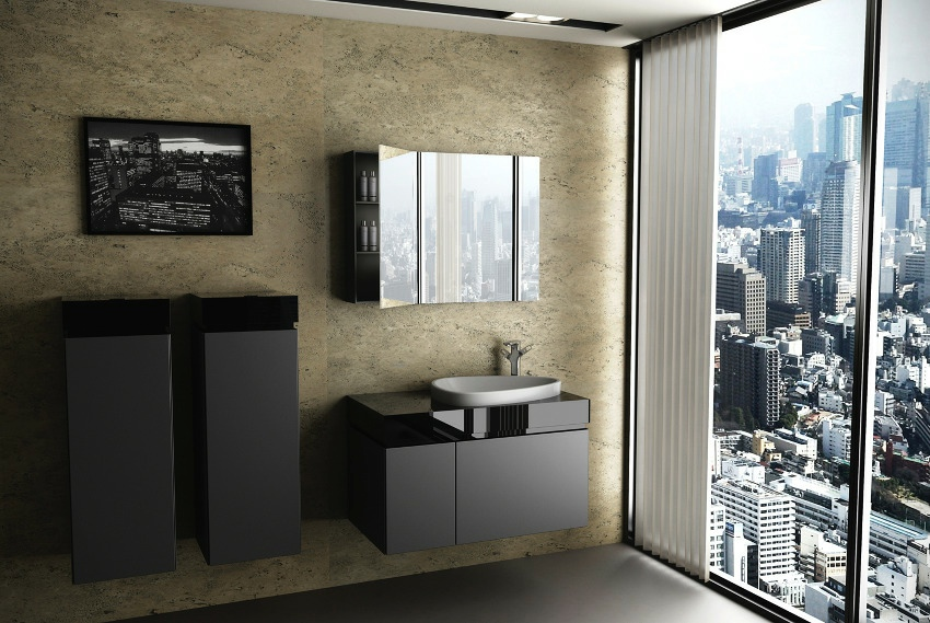Black bathroom furniture interior design ideas - Decore salle de bain 2014 ...