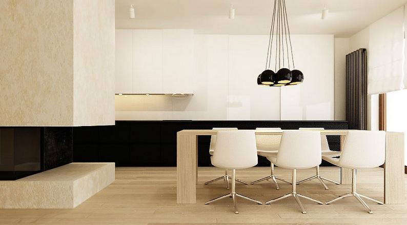 black cream dining room interior design ideas
