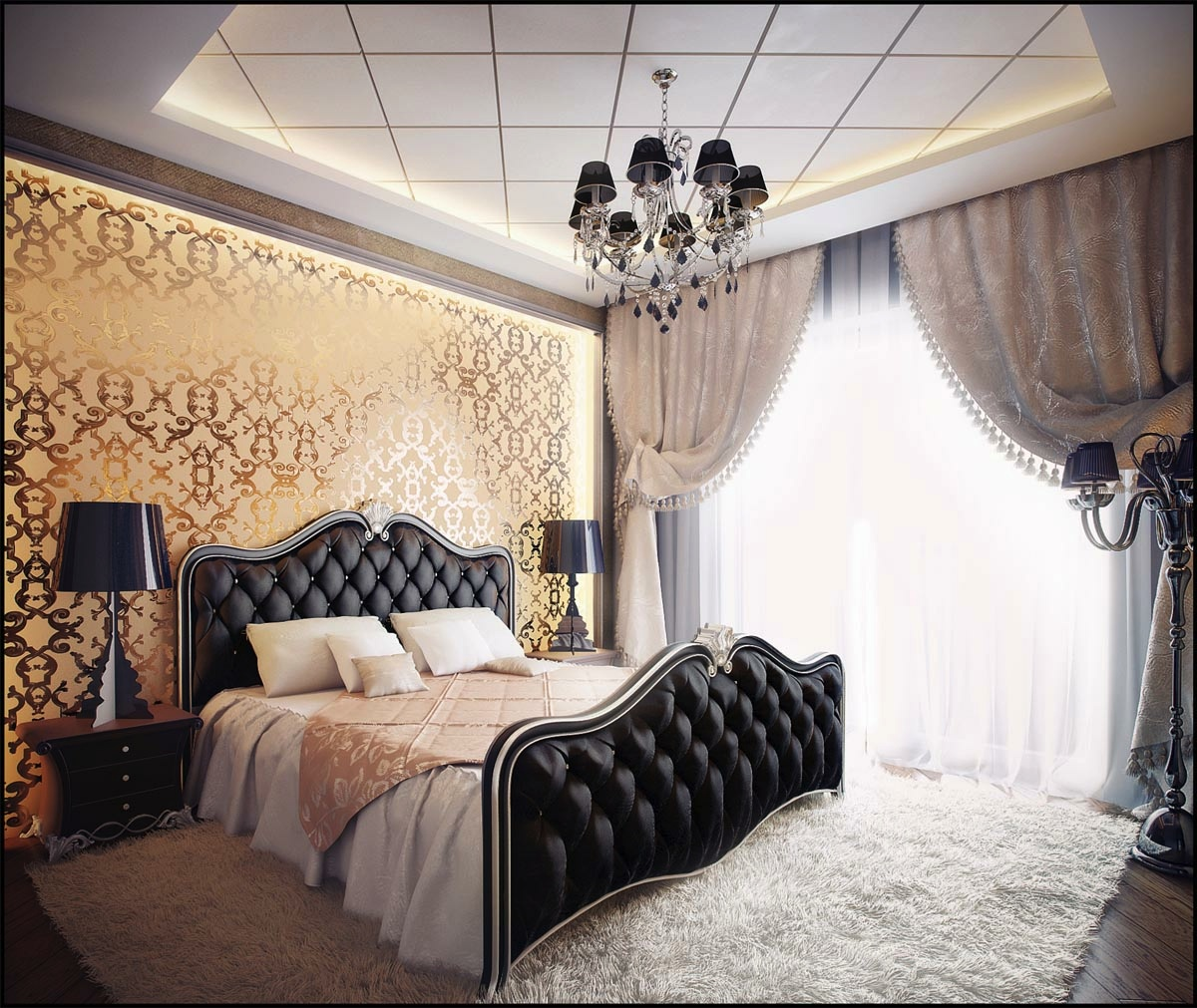 black gold bedroom design interior design ideas