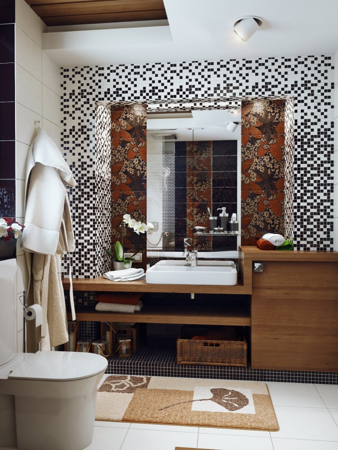 Small bathroom design for Bathroom design black
