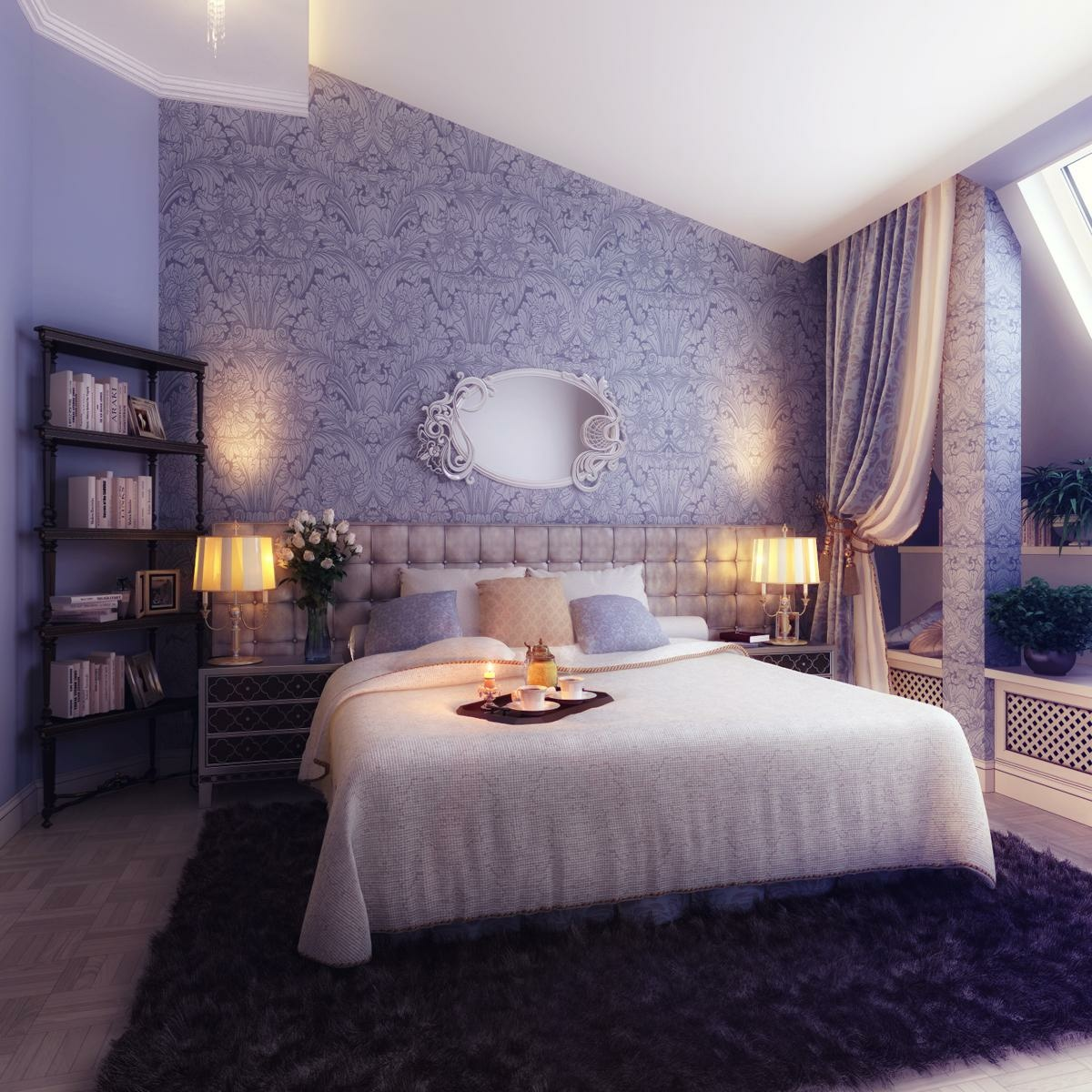 Bedrooms with traditional elegance - Wall designs bedroom ...