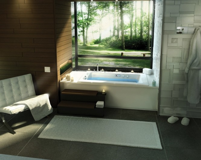 Above 3 via Pearl Baths  Bathtubs with a View of Nature  Bathtubs with a View of Nature Built in bathtub 665x532