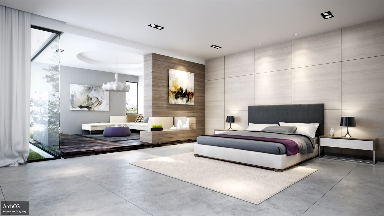 Contemporary Bedroom Scheme Interior Design Ideas