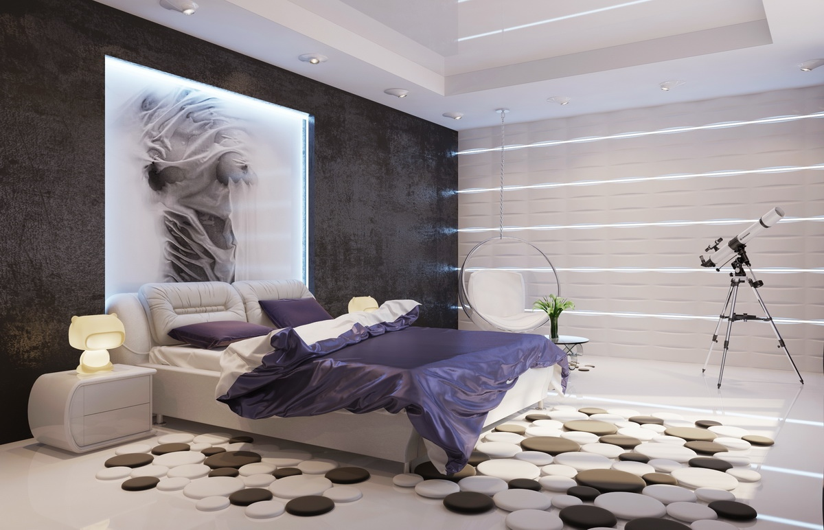 Modern Bedroom Purple modern bedroom ideas