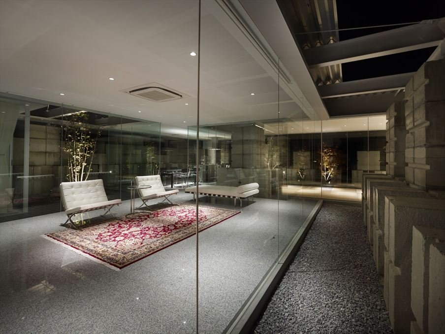 Glass walled living room | Interior Design Ideas.