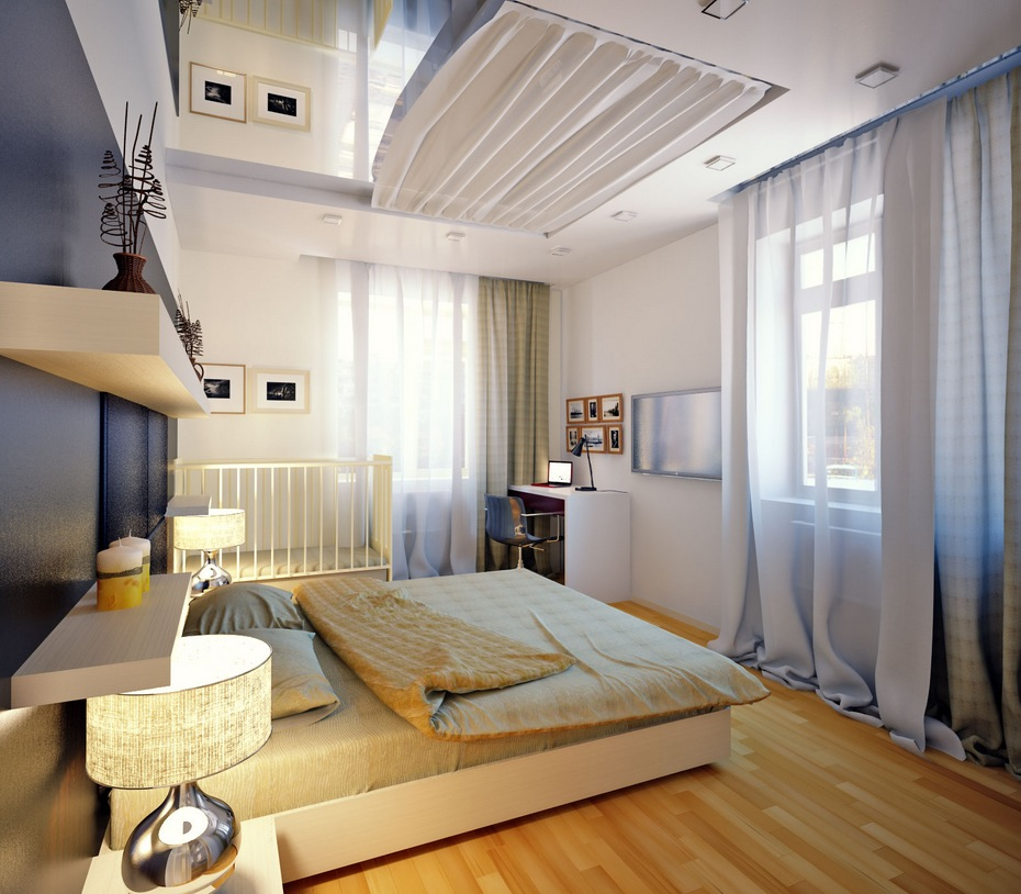 Gray white bedroom interior design ideas Modern bedroom designs 2012