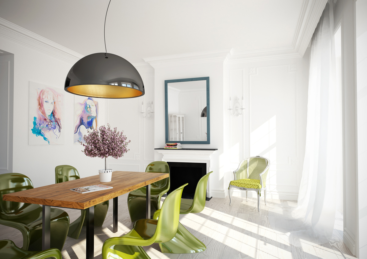 Delicious dining room schemes - Pale green dining room ...