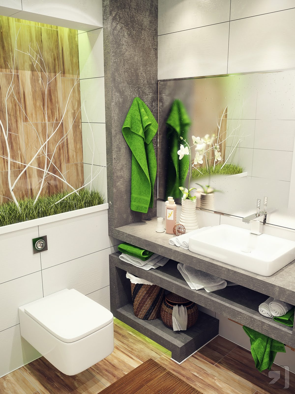Fashion week Bathrooms green designs for lady