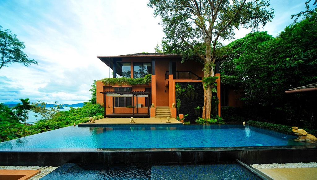 Infinity pool interior design ideas for Home designs thailand