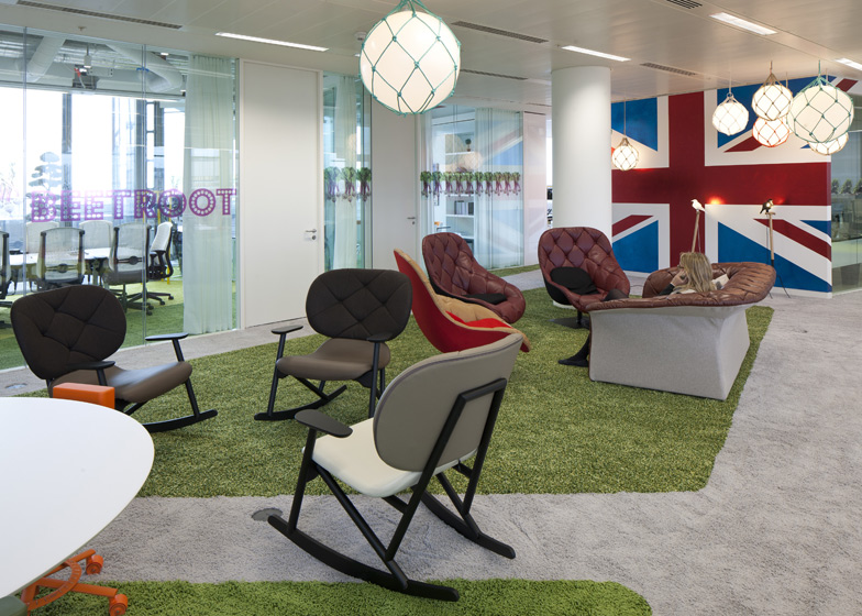 Google london office for Funky office designs
