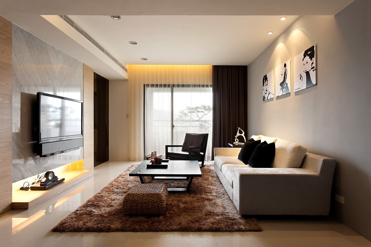 modern minimalist decor with a homey flow -