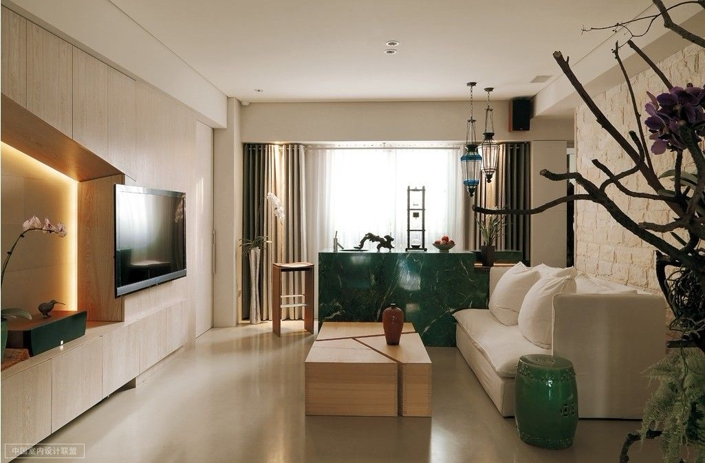 A modern asian minimalistic apartment for Modern apartment living room