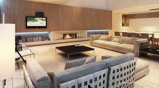 Modern living room layout