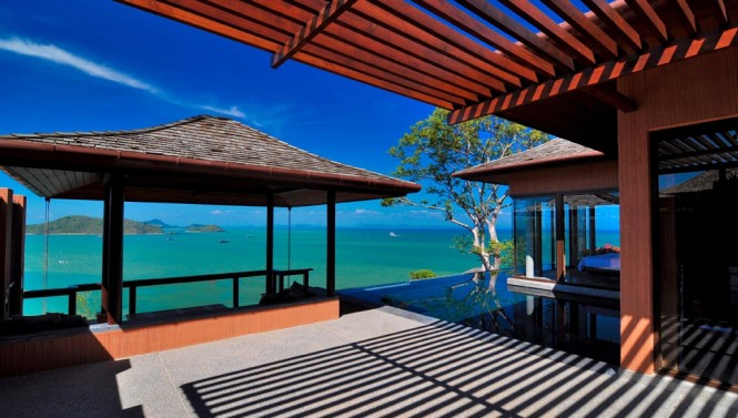 Forty acres of lush, tropical surroundings provides maximum privacy to the dwellers of these villas, and nestled high atop Cape Panwa over one of the worlds most stunning coastlines the holiday homes offer awesome wide stretching views of the Southeastern tip of Phuket.