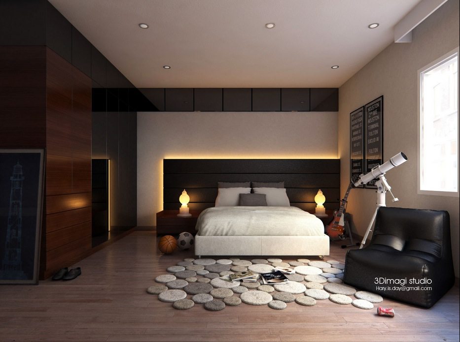 Modern bedroom ideas for Bed room interior wall design