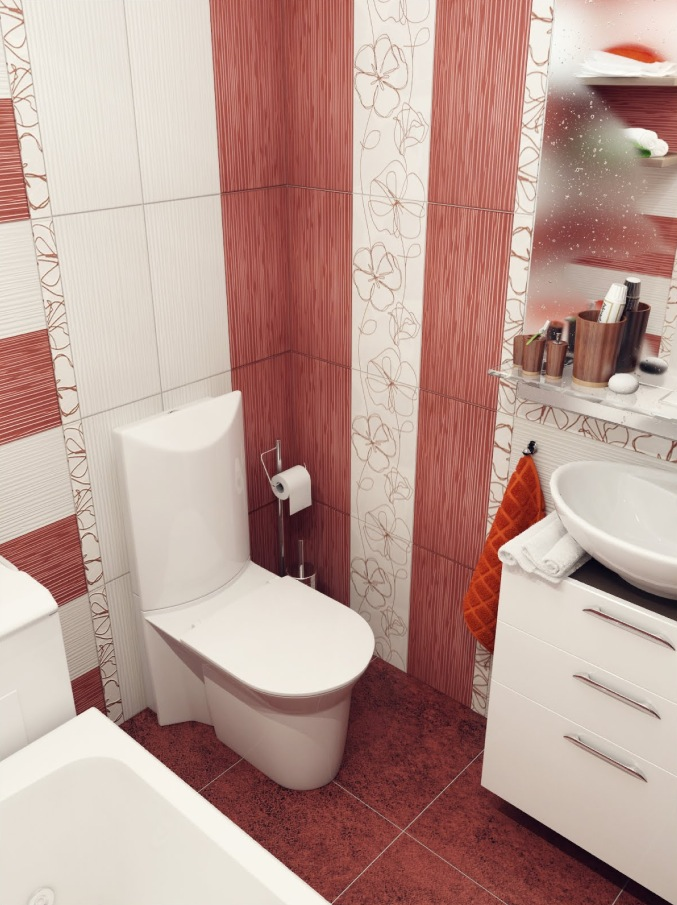 Red White Bathroom Design Interior Design Ideas