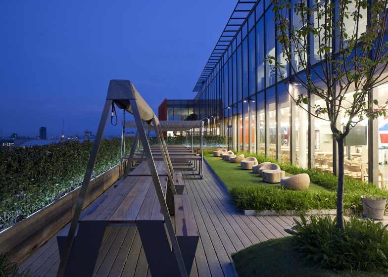 ... offers inspirational panoramic views over the London cityscape