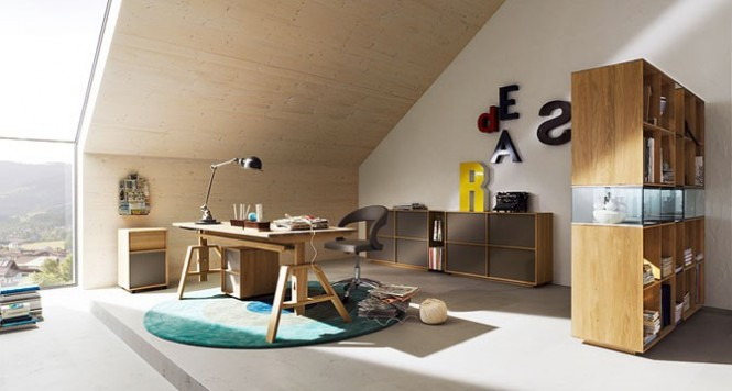 Via Team7This teen dream space has an airy and sophisticated palette, resulting in a calm place to concentrate.
