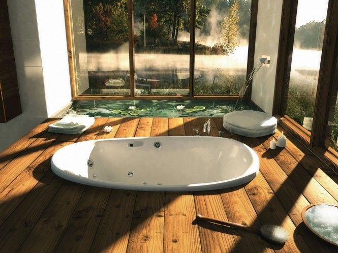 Sunken bathtub  Bathtubs with a View of Nature  Bathtubs with a View of Nature Sunken bathtub 665x498