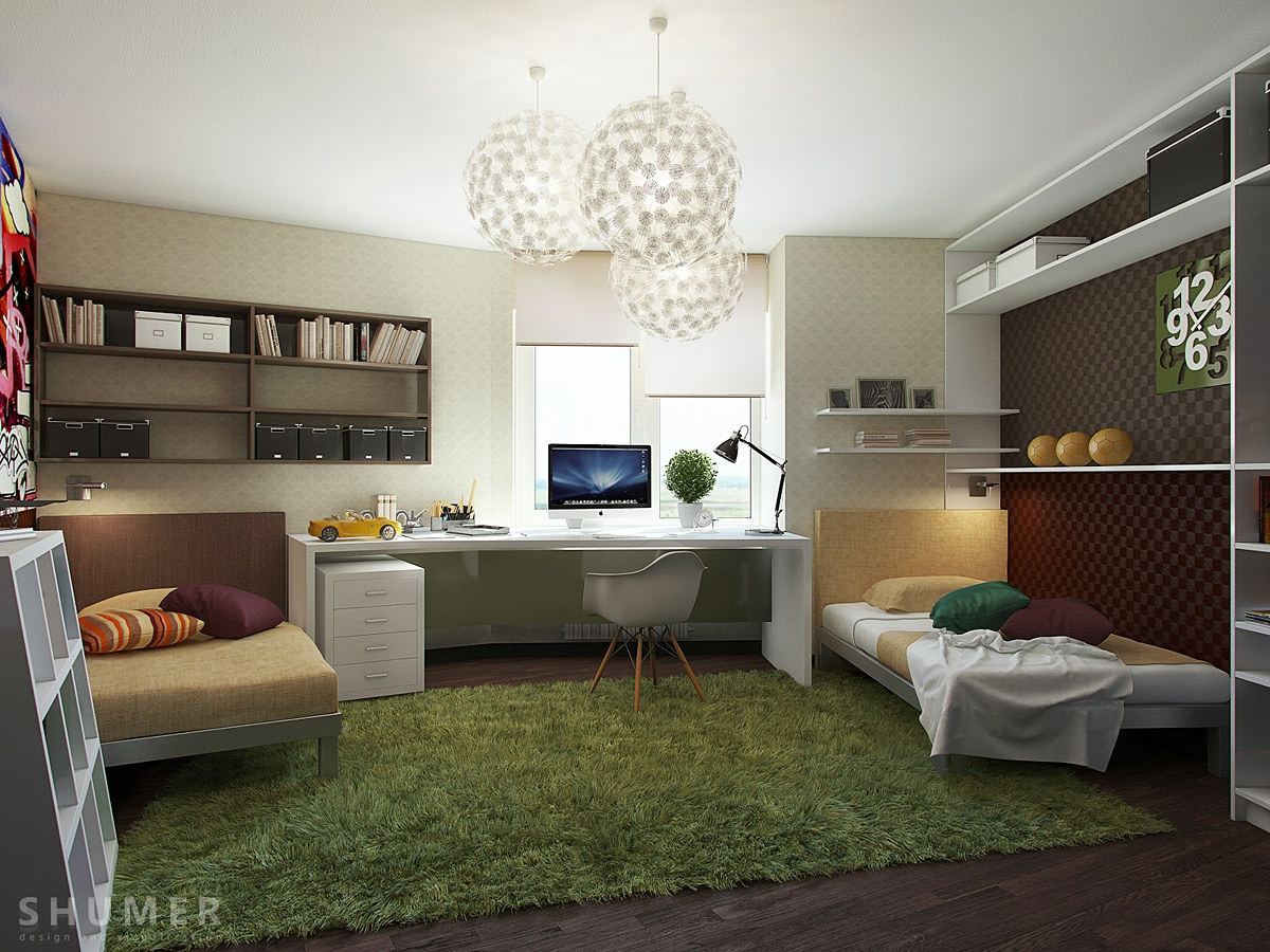 Room Interior Design For Teenagers Of Teen Workspaces