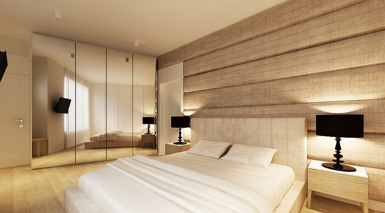 Textured bedroom wall  Interior Design Ideas.