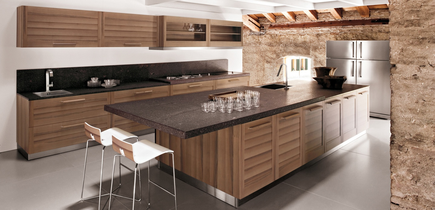 Walnut kitchen cabinets interior design ideas for Cuisine contemporaine design