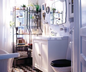 Super Scandi Bathroom Styling From Swedish Designers IKEA With Space Maximizing Ideas For Dual Purpose Places