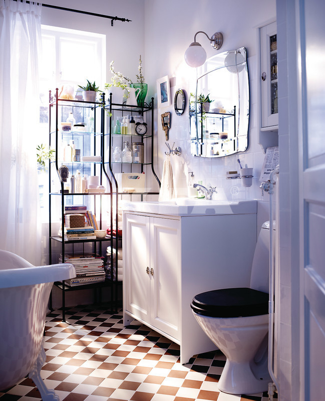 White IKEA bathroom