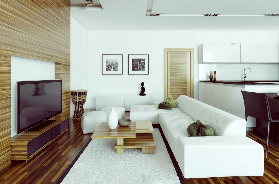 White l shaped sofa interior design ideas How to design a small living room