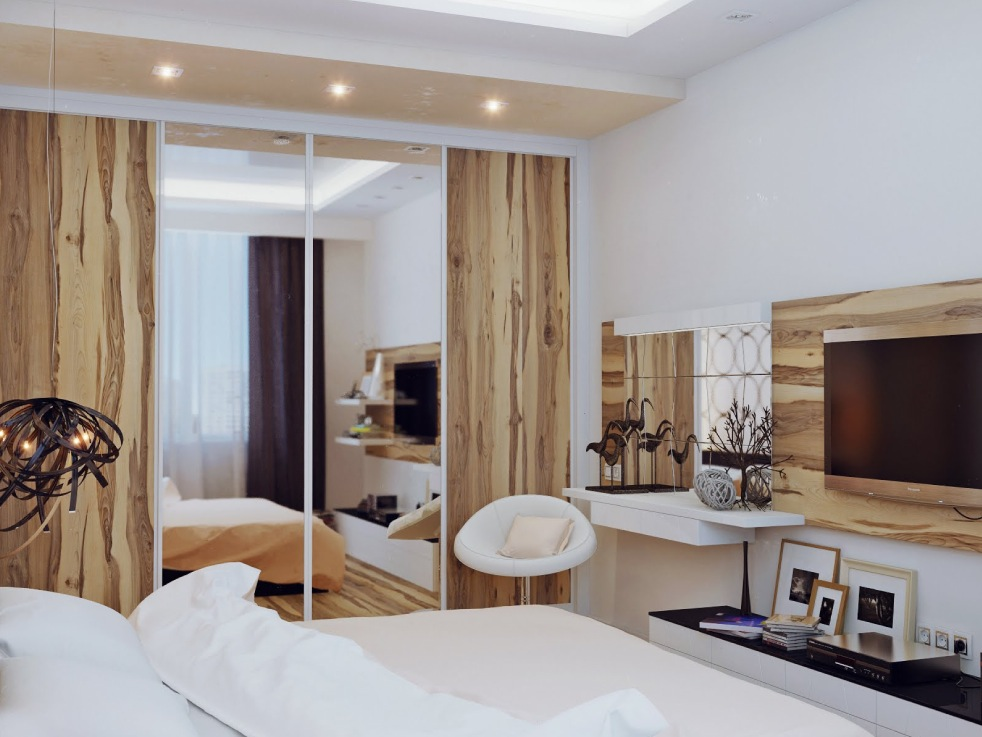 Modern bedroom ideas for Wooden bed interior design