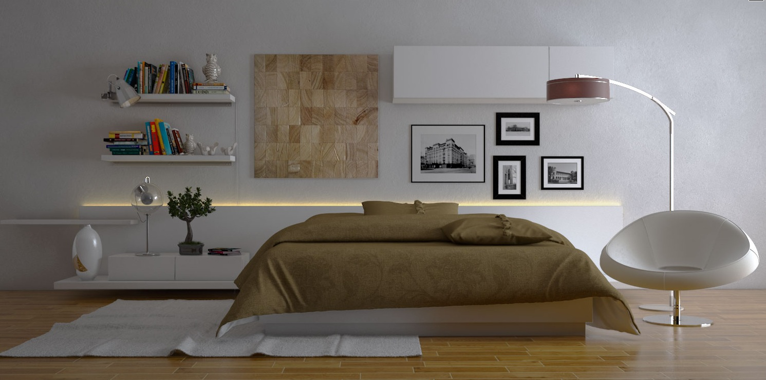Modern bedroom ideas for Bed decoration design