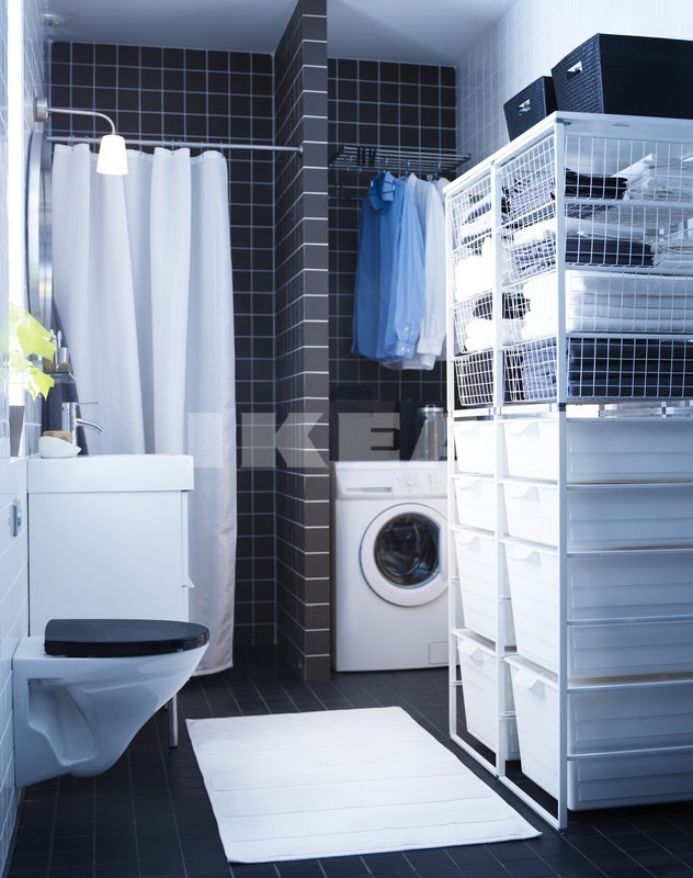 Ikea bathrooms for Small bathroom laundry designs