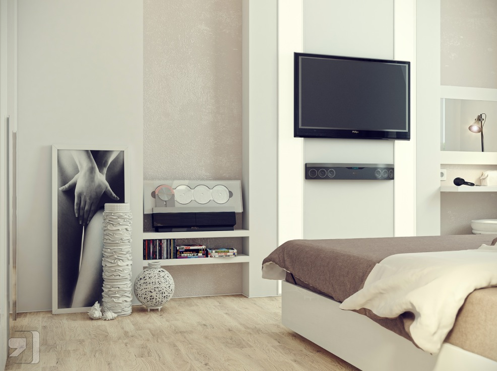 Modern Bedroom With Tv tv for bedroom