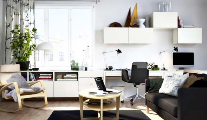 Above 4 via IKEAOf course, a teen study space doesn't always have to be shut away in the confines of a bedroom; a neat work area set out in a quiet living room gives the whole family somewhere to take care of business, and also allows you to keep and eye on how your young ones are doing.