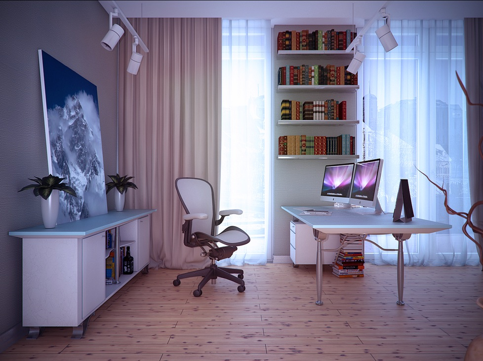 White home study room interior design ideas Home study room ideas