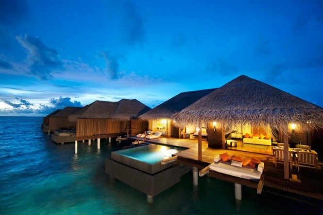 With sun decks and private plunge pools suspended above a turquoise sea, you may never want to leave your luxury hut at the Ayada Resort in the Maldives.