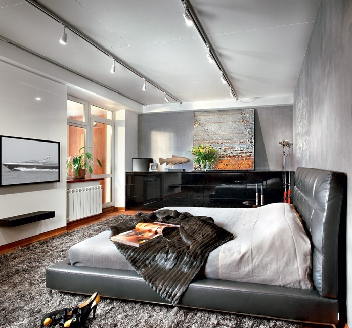 Cute  This soft black leather bed