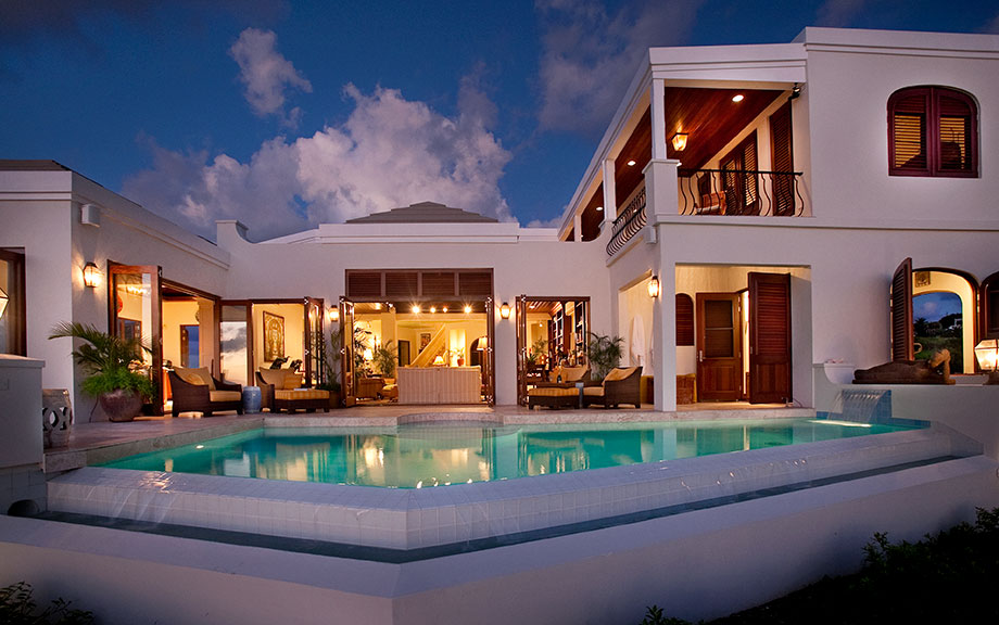 Serene caribbean rental villa for Villa de luxe contemporaine