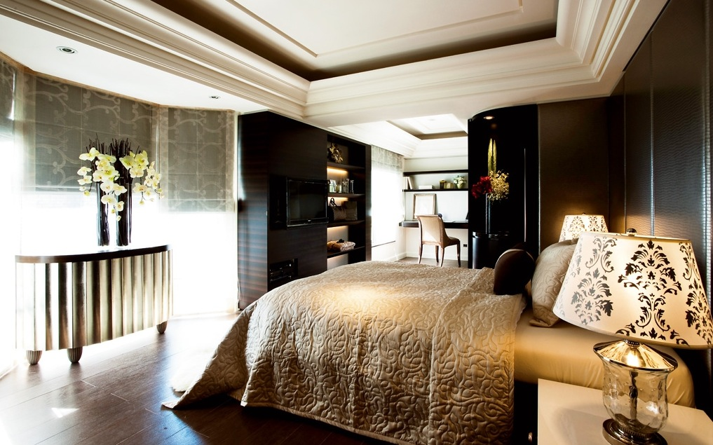 Contemporary classic home Modern chic master bedroom