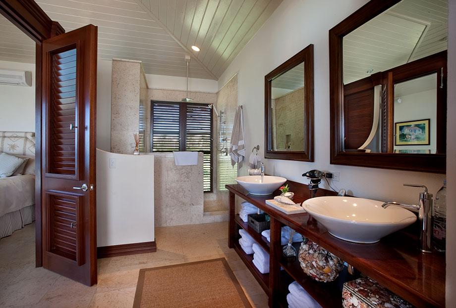 Caribbean Bathroom Design Ideas ~ Serene caribbean rental villa