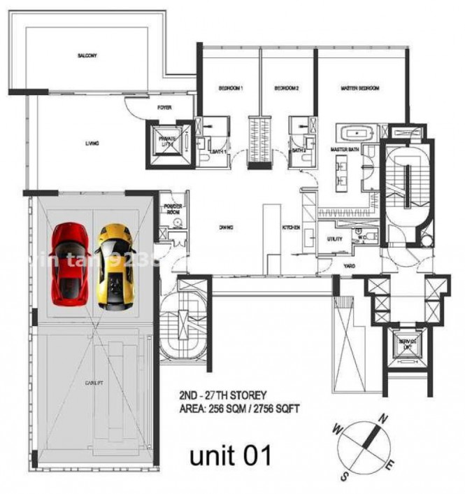 Super luxury singapore apartment with in room car parking for Luxury garage plans
