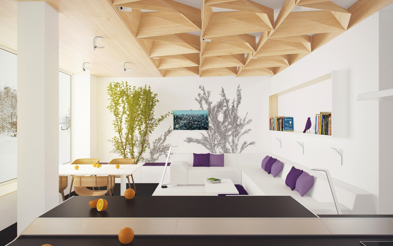Blur the boundaries with inside outside living style for Show home living room designs