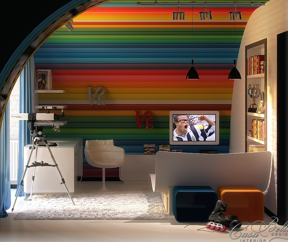 Colorful kids rooms for Kids room wall decor