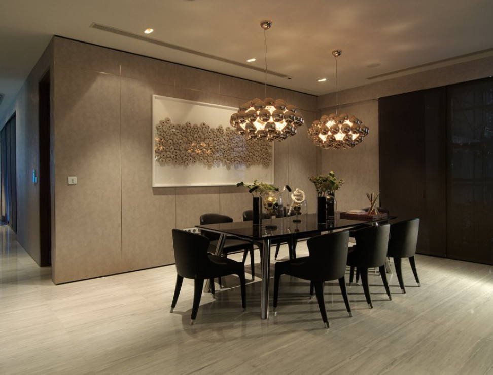 Sophisticated dining room interior design ideas for Apartment design singapore