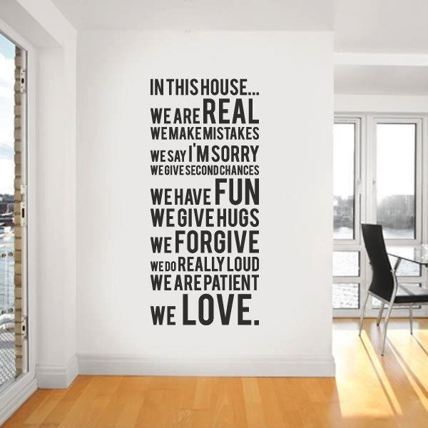 Wall Decal Quote Interior Design Ideas