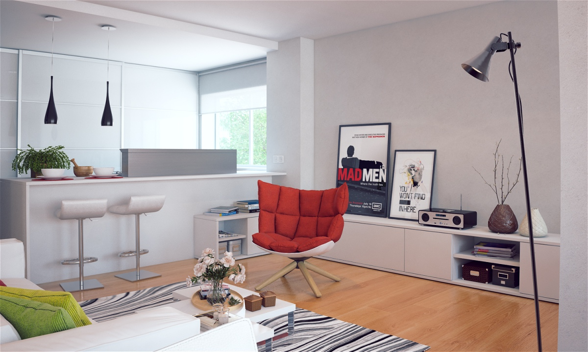 white kitchen red chair kitchen chair Like Architecture Interior Design Follow Us