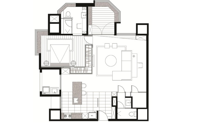 Http Www Home Designing Com 2013 01 Asian Apartment With Neutral Decor 12 Interior Layout Plan