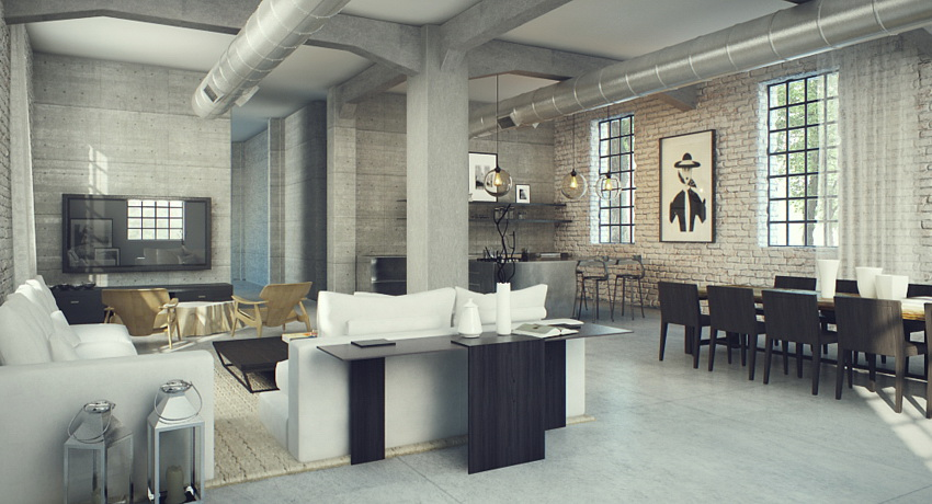 Industrial lofts for Residential decorating